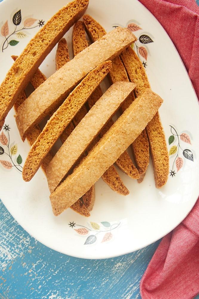 plate of Vanilla Biscotti