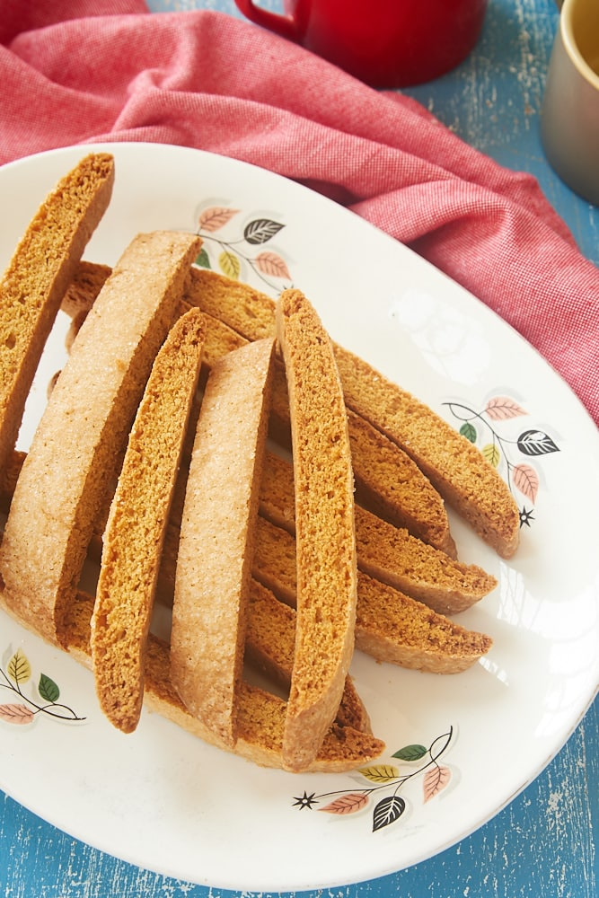 Vanilla Biscotti served on a plate