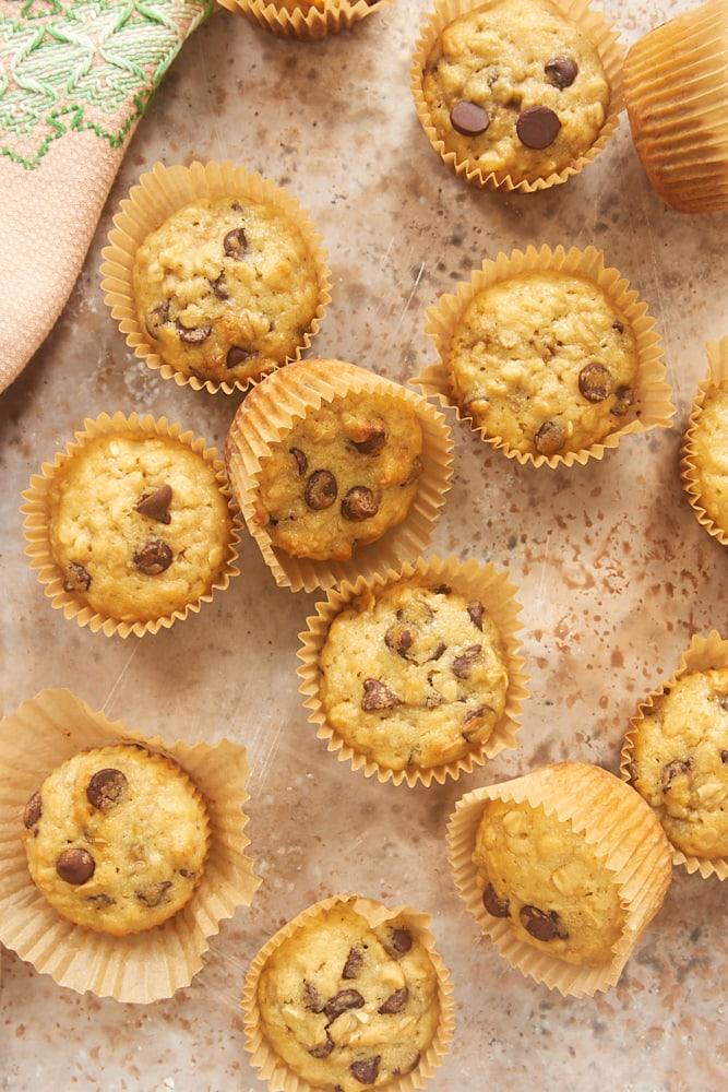 Banana Oatmeal Chocolate Chip Muffins