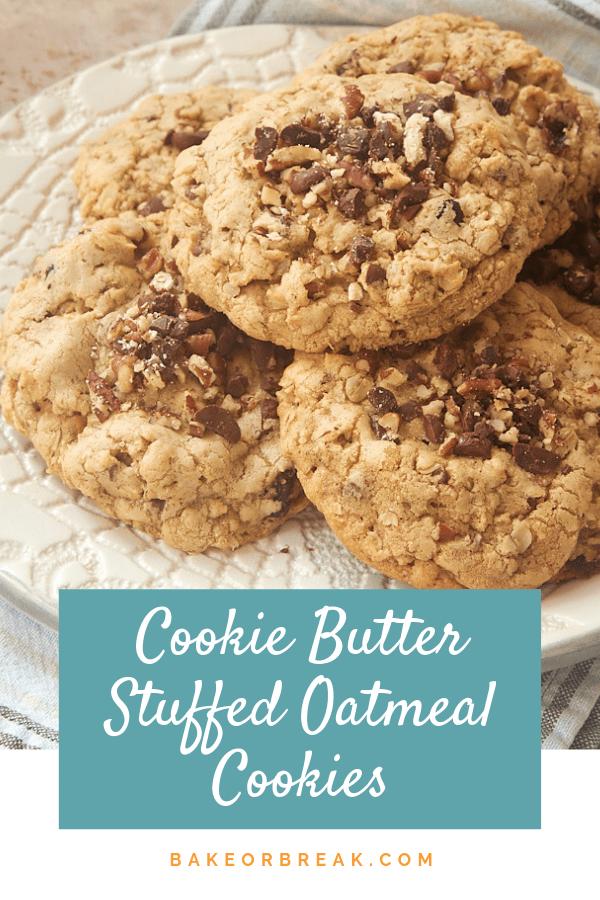 Cookie Butter-Stuffed Oatmeal Cookies bakeorbreak.com