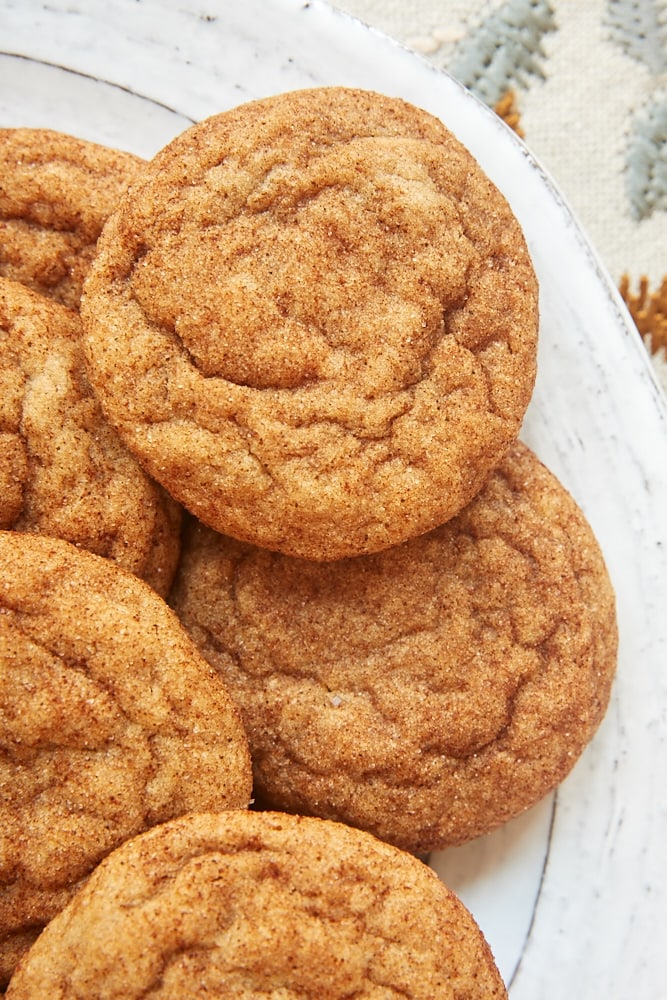 Cookie Butter Snickerdoodles on a white plate