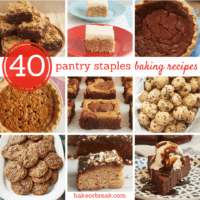 collection of baking pantry staples recipes