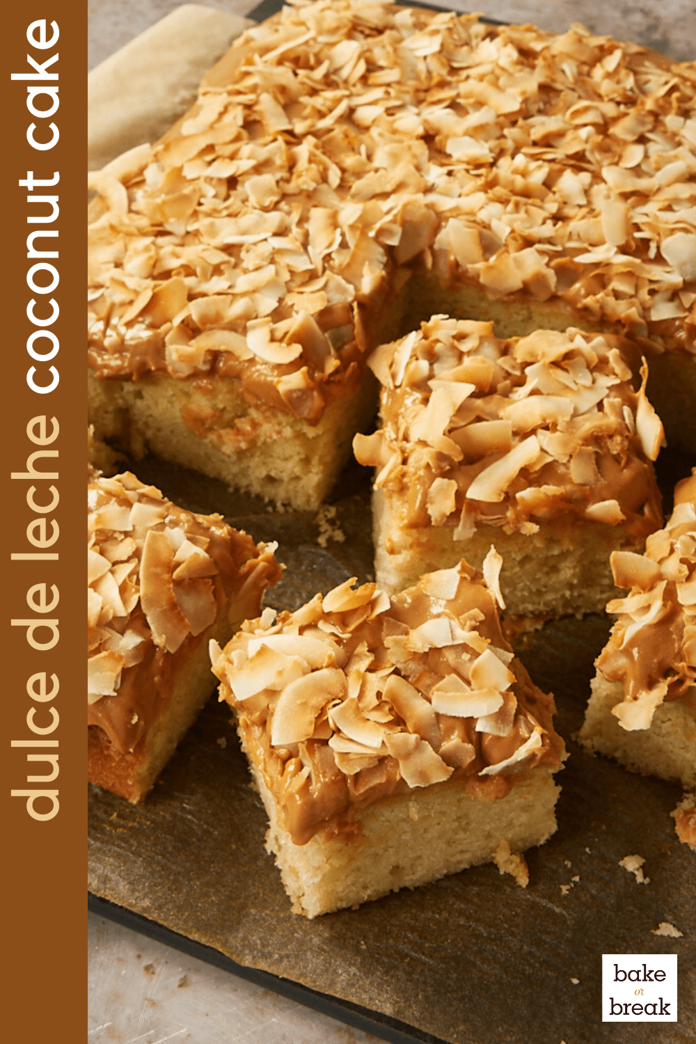 Coconut Cake with Dulce de Leche Frosting