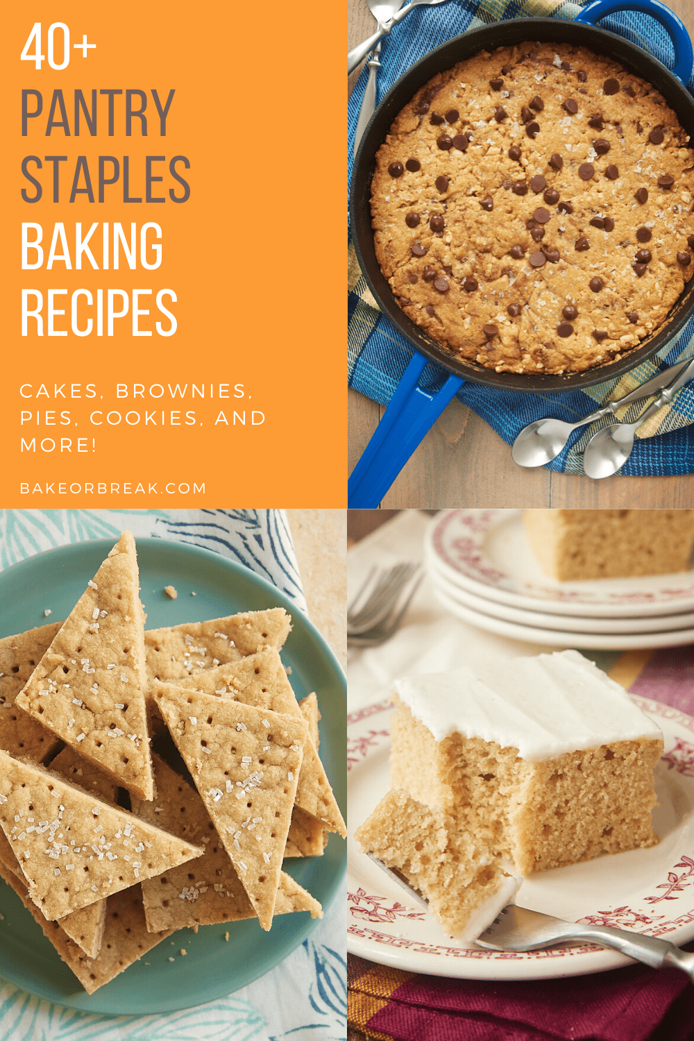 collection of over 40 baking recipes using pantry staples