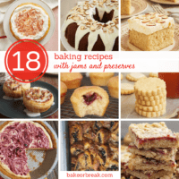 collection of baking recipes with jams and preserves