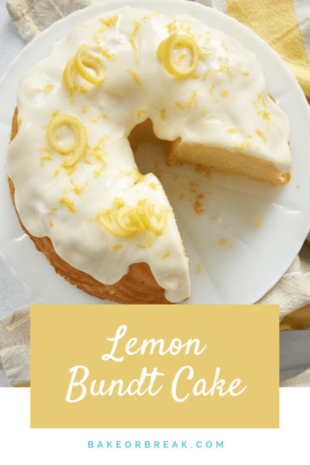 Lemon Bundt Cake bakeorbreak.com