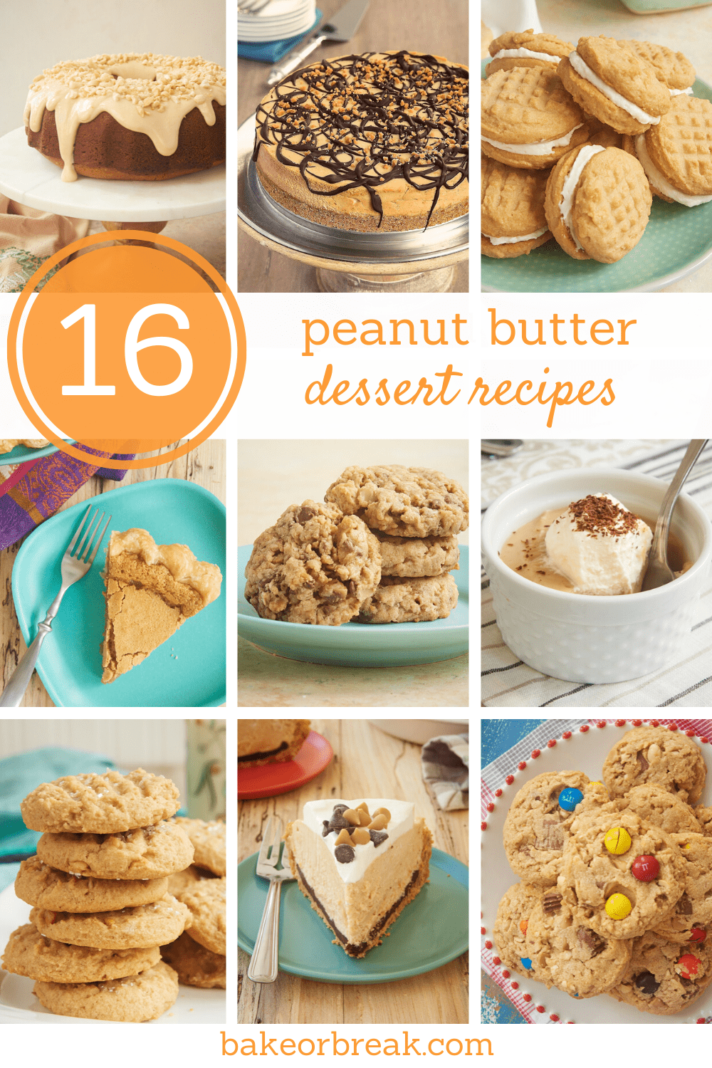 collection of 16 Peanut Butter Dessert Recipes