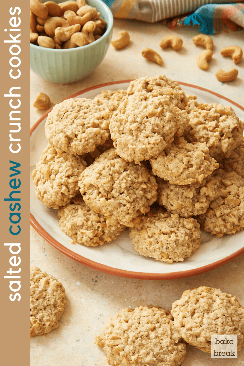 Salty Cashew Crunch Cookies