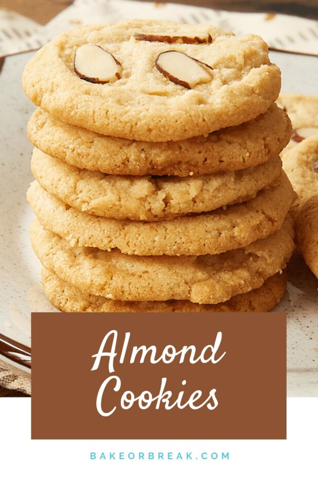 Almond Cookies bakeorbreak.com
