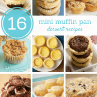 16 Mini Muffin Pan Dessert Recipes bakeorbreak.com