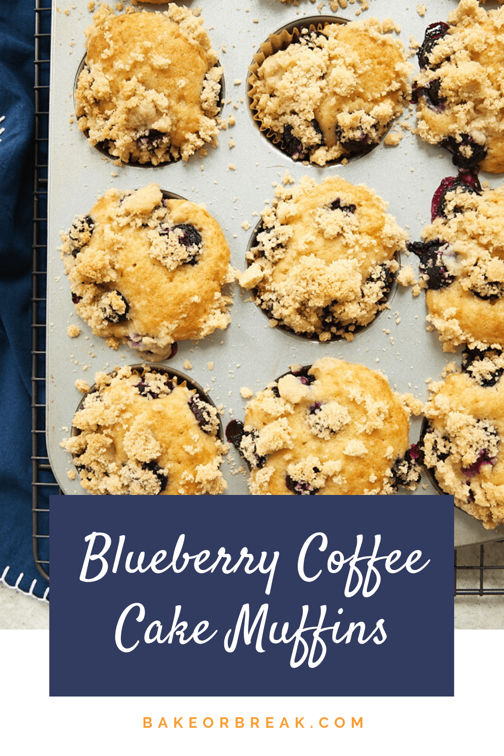 Blueberry Coffee Cake Muffins bakeorbreak.com