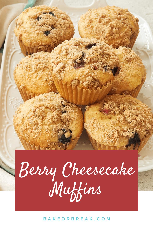 Berry Cheesecake Muffins bakeorbreak.com