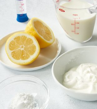 ingredients for making buttermilk substitutes