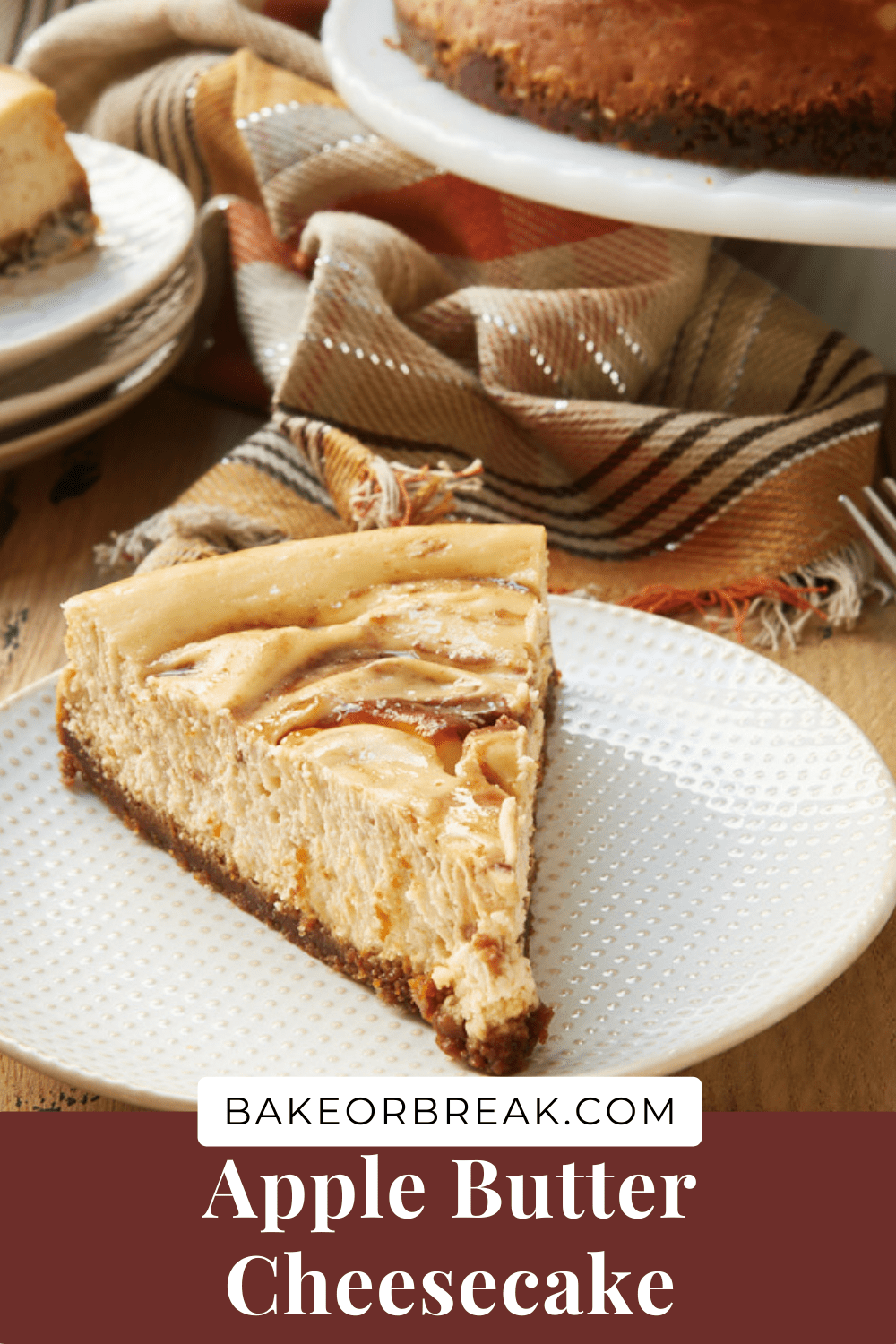 Apple Butter Cheesecake bakeorbreak.com