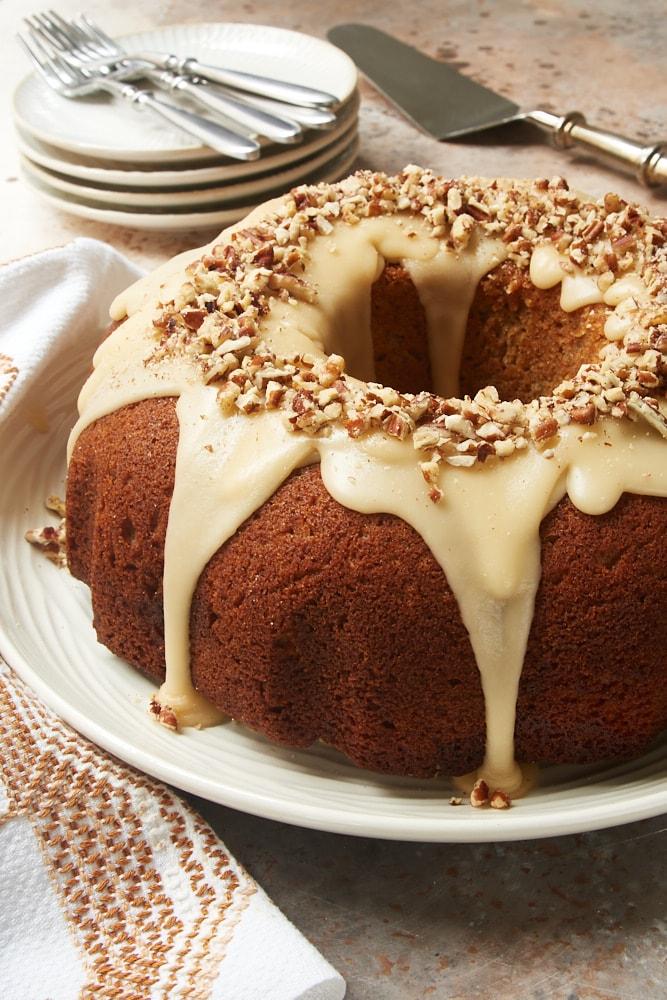 Brown Sugar Spice Cake With Caramel Rum Glaze Bake Or Break