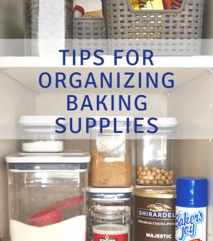 Tips for Organizing Baking Supplies bakeorbreak.com