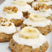 Hummingbird Oatmeal Cookies on a white tray