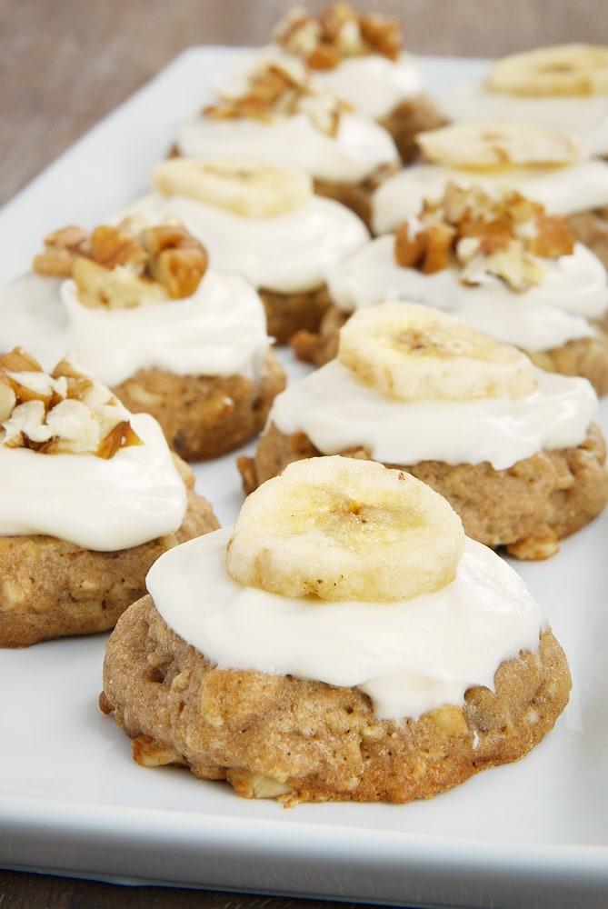Hummingbird Oatmeal Cookies on a white tray