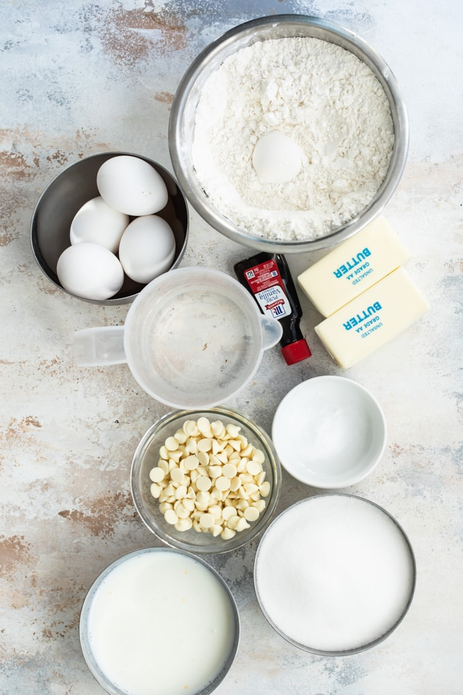 ingredients for Butter Pecan Cake