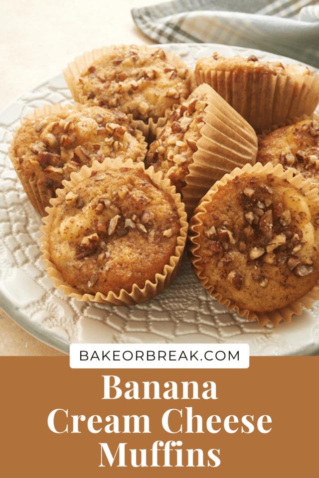 Banana Cream Cheese Muffins bakeorbreak.com