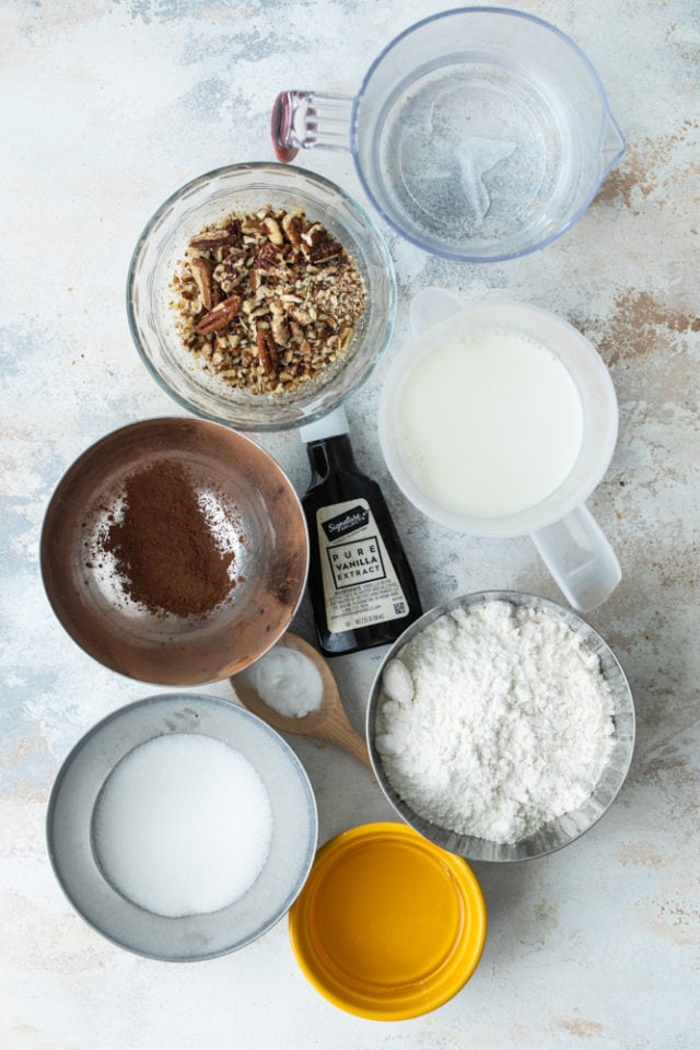 ingredients for Brownie Pudding Cake
