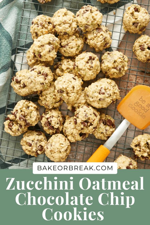Zucchini Oatmeal Chocolate Chip Cookies bakeorbreak.com