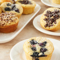 Pancake Muffins served on white plates