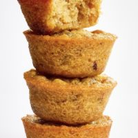 stack of Pecan Pie Cupcakes on a white surface