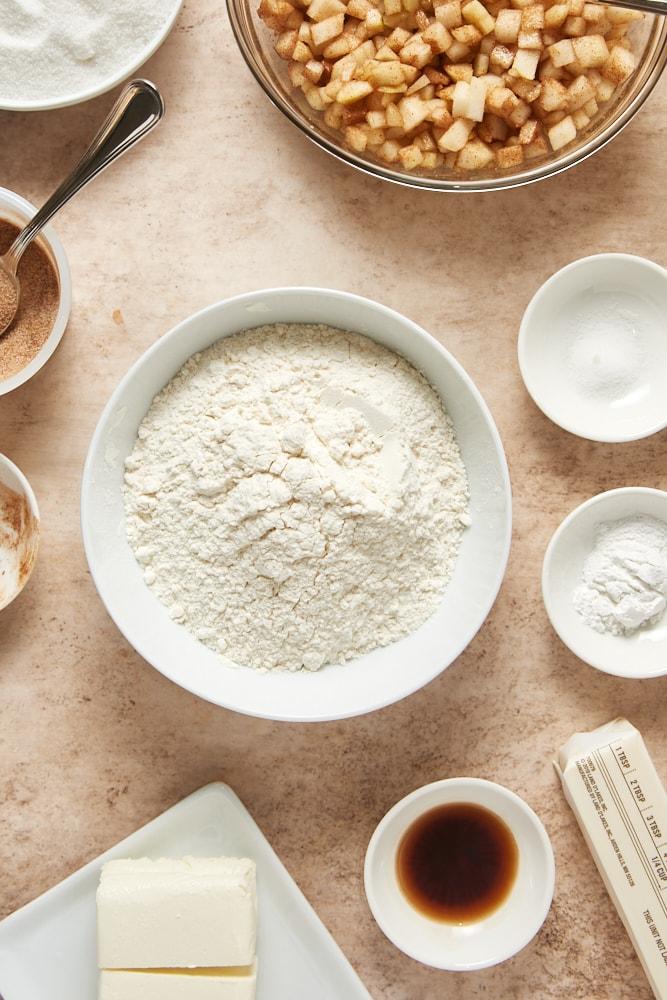 ingredients for Cinnamon Pear Cake