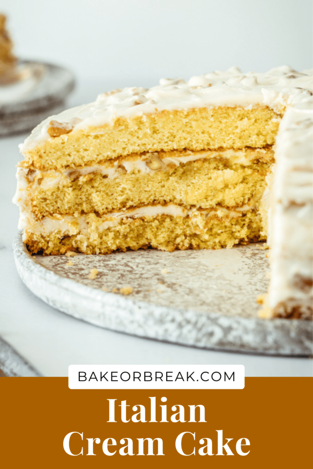Italian Cream Cake bakeorbreak.com